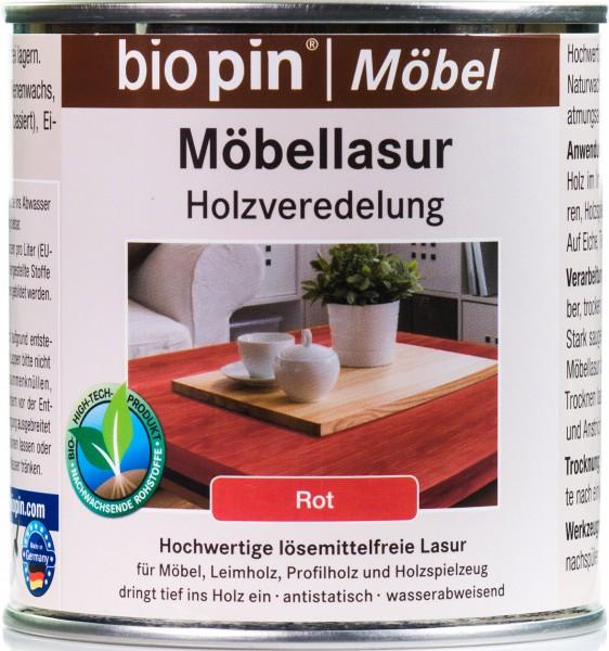 Möbellasur Rot