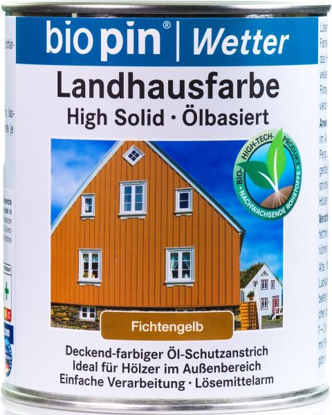 Landhausfarbe Fichtengelb