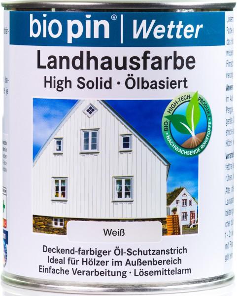 Landhausfarbe Weiß Transparent