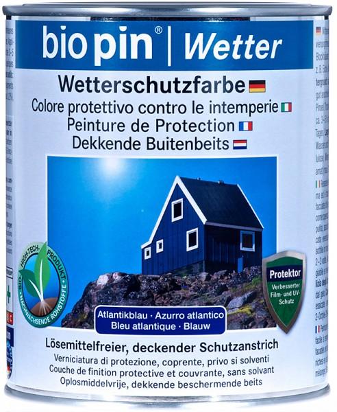 Wetterschutzfarbe Atlantik Blau
