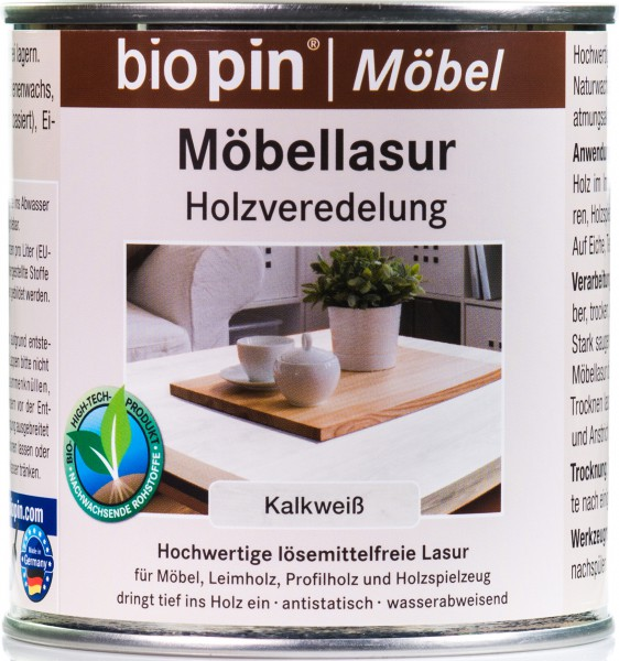 Möbellasur Kalkweiß